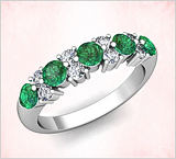 Emerald Wedding Bands