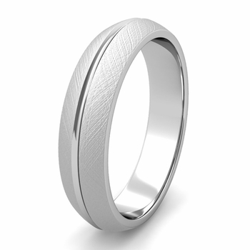Single Rail Wedding Band