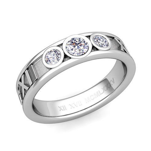 diamond bands wedding anniversary band stone ring