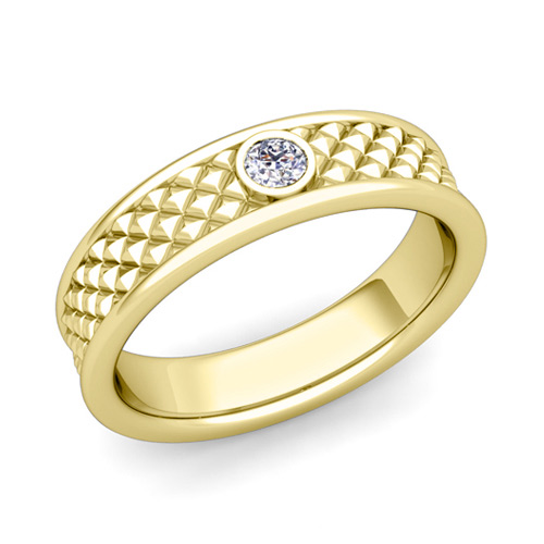 wedding yellow mainye band bands diamond womens gold anniversary stone ring mens