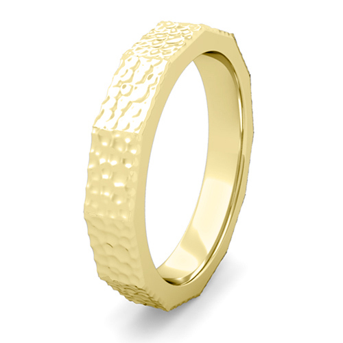 Modern Mens Wedding Ring Comfort Fit Wedding Band In Gold