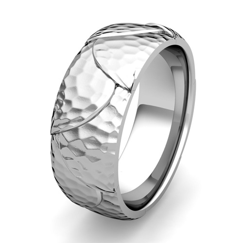 Order Now Ships On Thursday 5 10order In Business Days Harmony Comfort Fit Wedding Band Platinum Hammered Finish Ring 8mm