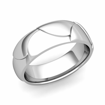 Harmony Comfort Fit Wedding Band in Platinum Polished Finish Ring, 7mm