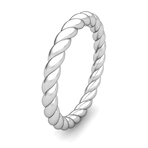Twisted Cable Wedding Ring Band In 18k Gold