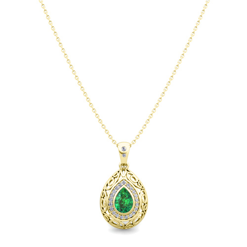 Vintage inspired diamond and pear emerald necklace in 14k gold order now ships on friday 824order now ships in 14 business days vintage inspired diamond and pear emerald necklace in 14k gold aloadofball Choice Image