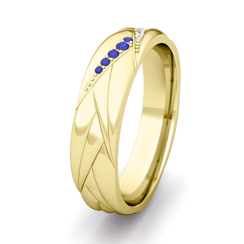 Order Now Ships On Monday 3 19order In 5 Business Days Wave Mens Wedding Band 18k Gold