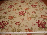 1 1/2 yards Fabricut Avellino Sunglow Floral upholstery fabric