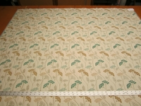 1 1/2 yards floral chenille mix upholstery fabric