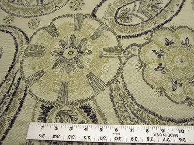 "1 1/2 yards of Fabricut ""Darlington"" color shitake paisley upholstery fabric"