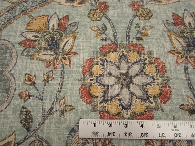 1 1/2 yards P. Kaufmann Andalucia Persian cotton print drapery fabric