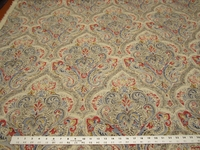 1 1/4 yards of paisley print home decor fabric