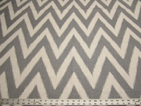 1 1/4 yards Robert Allen Brushed Zig zinc printed fabric