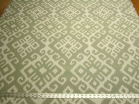 1 1/8 yards Baha Seafoam geometric upholstery fabric