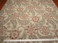 "1 1/8 yards of Fabricut ""Darlington"" color beryl paisley upholstery fabric"
