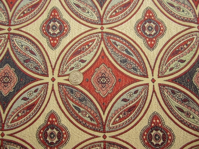 1 1/8 yards Stroheim San Miguel Caliente Red upholstery fabric