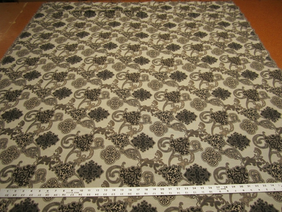 1 3/4 yards of Amadeus color woodgrain upholstery fabric