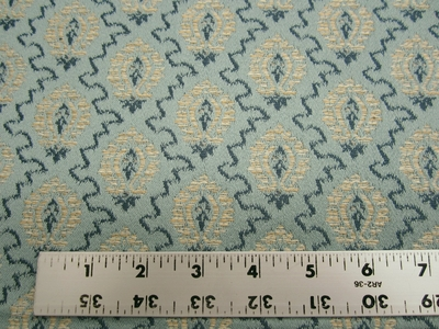 1 3/8 yards blue small pattern upholstery fabric