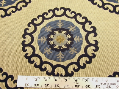 1 3/8 yards of Kravet Roman Circle medallion upholstery fabric