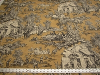 1 5/8 yards Kravet Lutece scenic toile print fabric