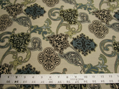 1 5/8 yards of Amadeus color seabreeze upholstery fabric