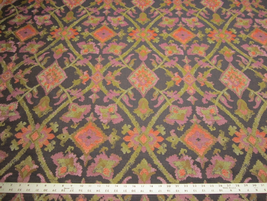 1 5/8 yards of Robert Allen Mosaic Field iris upholstery fabric