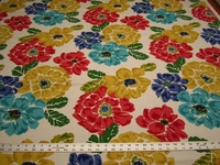 1 5/8 yards Robert Allen home Brushed Floral print home decor fabric