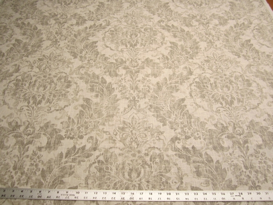 1 7/8 yards Covington Downton printed damask drapery fabric
