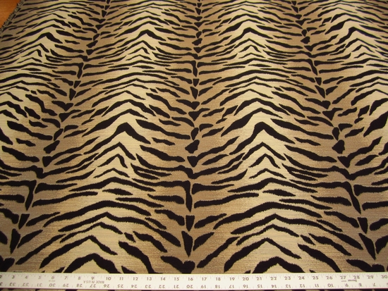 1 7/8 yards Kravet animal skin patterned upholstery fabric
