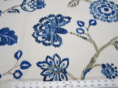 1 7/8 yards of Richloom Ampersand Cobalt drapery fabric