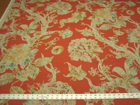1 7/8 yards P. Kaufmann Millie Coral Print Fabric