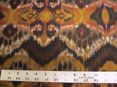 "1 7/8 yards Robert Allen ""Rhythm Waves"" Ikat upholstery fabric"