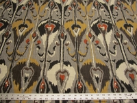 1 yard of Robert Allen Home Ikat Bands Color Greystone r2409