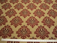 10 7/8 yards of damask jacquard upholstery fabric