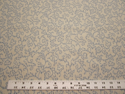 11 5/8 yd elegant vine patterned drapery and upholstery fabric