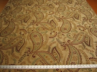 12 1/2 yards Fabricut Lucca Autumn paisley chenille upholstery fabric
