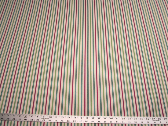12 1/2 yards of bold stripe jacquard upholstery fabric