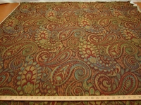 12 3/8 yards Robert Allen Tamil Paisley upholstery fabric color Henna