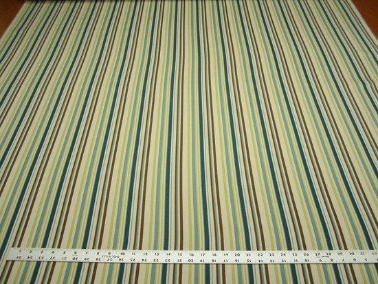 12 3/8 yards woven stripe ribbed upholstery fabric