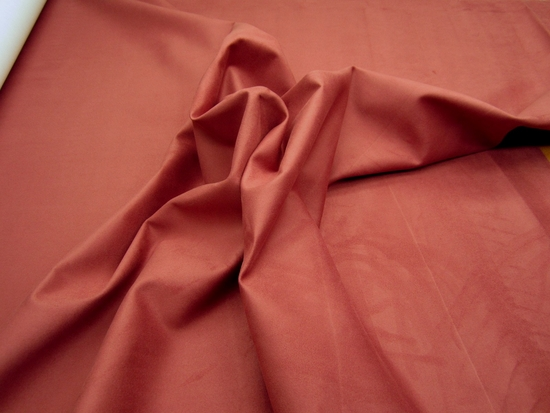 12 7/8 yards of high quality crimson faux suede upholstery fabric
