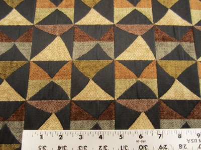 9 1/2 yards of patchwork chenille upholstery fabric