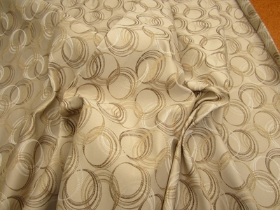 13 yards of geometric circles upholstery or drapery fabric