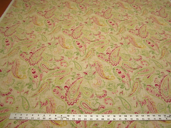14 yards of Covington Daphne paisley drapery or upholstery  fabric