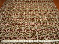14 yards of geometric patterned upholstery fabric