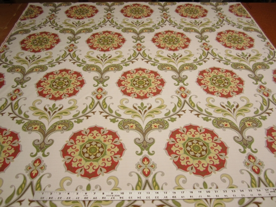 17 1/2 yards of Swavelle Mill Creek Barossa persimmon upholstery fabric