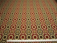 18 3/4 yards of circle chenille mix upholstery fabric