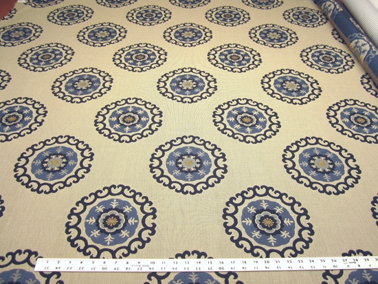 2 1/2 yards of Kravet Roman Circle medallion upholstery fabric