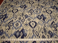 2 1/2 yards of Swavelle Mill Creek Gunnison ikat cotton print drapery fabric