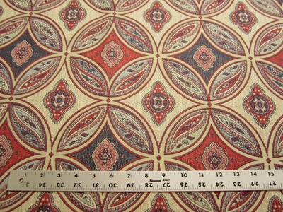 2 1/2 yards Stroheim San Miguel Caliente Red upholstery fabric