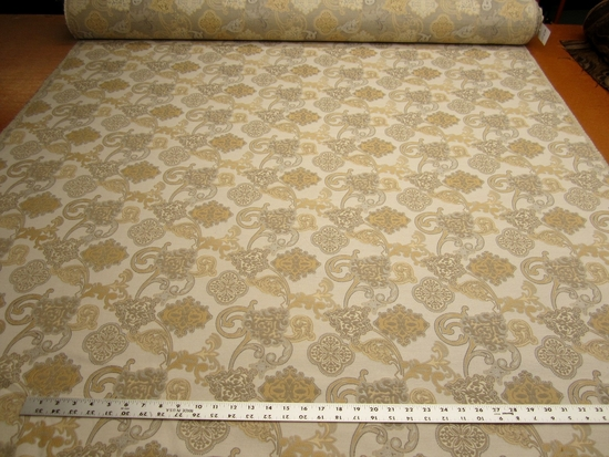 2 1/4 yards of Amadeus floral upholstery fabric