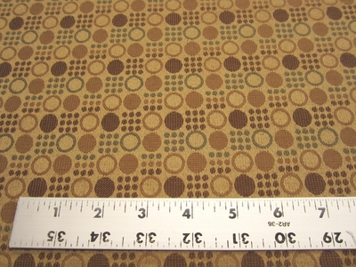 2 1/4 yards of ion, small geometric pattern upholstery fabric